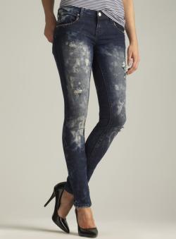 Blue Faith Frayed Skinny Jean