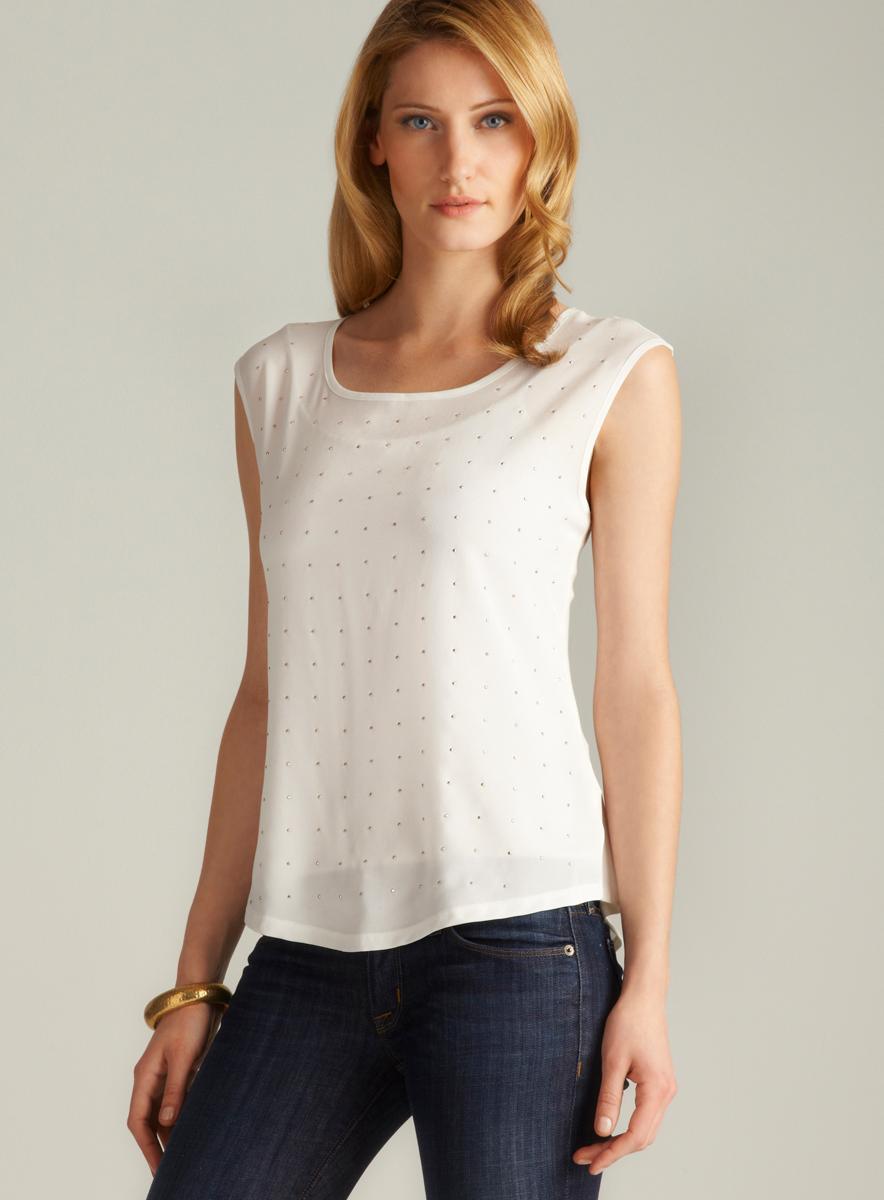 Calvin Klein Sleeveless Studded Top