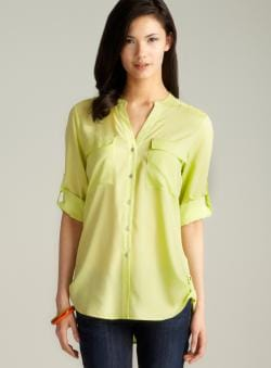 Calvin Klein Tab Sleeve & Hem Button Down