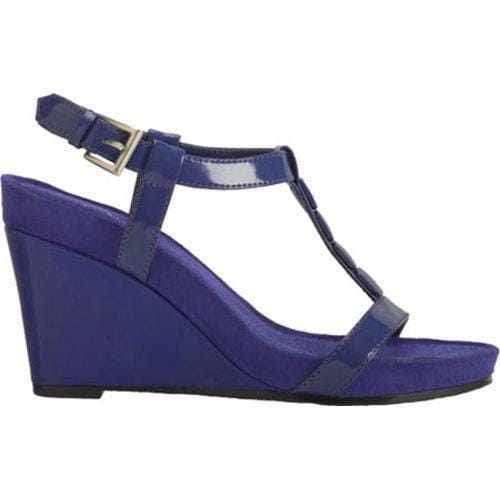 Women's A2 by Aerosoles Rose Plush Dark Blue Patent