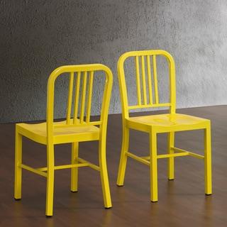 Lemon Metal Dining Chairs (Set of 2)