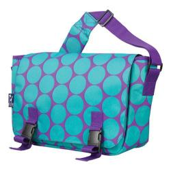 Wildkin Big Dot Aqua 15 Inch x 10 Inch Messenger Bag