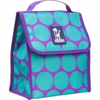 Wildkin Big Dot Aqua Lunch Bag