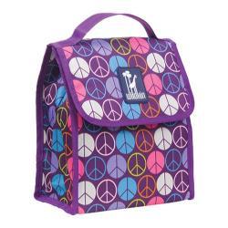 Wildkin Peace Signs Purple Lunch Bag