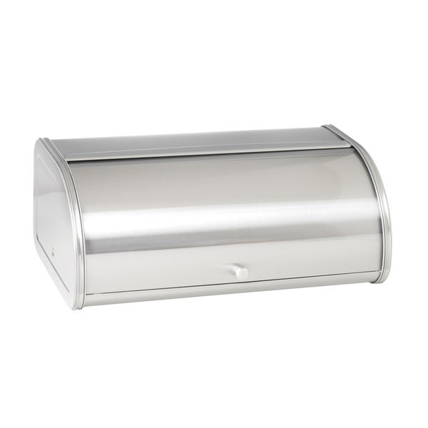 17.5-inch Brushed Stainless Steel Bread Box