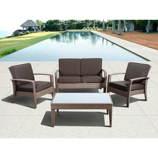Atlantic Mykonos Grey Deluxe Conversation 4-piece Set