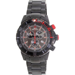 Swiss Precimax Men's 'Pursuit Pro' Black/ Grey Swiss Chronograph Watch