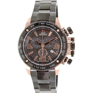 Swiss Precimax Men's Forge Pro SP13247 Black Stainless Steel Black Dial Swiss Chronograph Watch|https://ak1.ostkcdn.com/images/products/8101179/P15451397.jpg?impolicy=medium