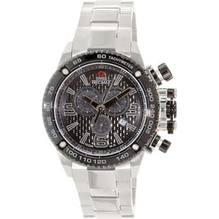 Swiss Precimax Men's Forge Pro SP13246 Silver Stainless Steel Black Dial Swiss Chronograph Watch|https://ak1.ostkcdn.com/images/products/8101183/P15451399.jpg?impolicy=medium