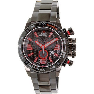 Swiss Precimax Men's 'Forge Pro' Black/ Red Swiss Chronograph Watch