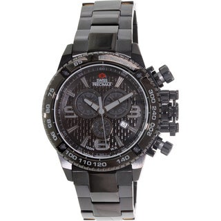 Swiss Precimax Men's Forge Pro SP13244 Black Stainless Steel Black Dial Swiss Chronograph Watch