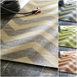 nuLOOM Modern Chevron Indoor/ Outdoor Area Rug (7'6 x 10'9)