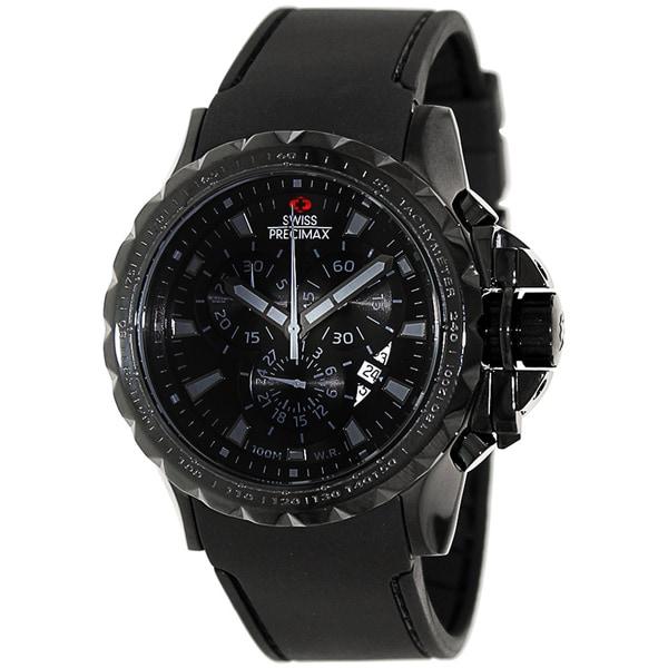 Swiss Precimax Men's 'Command Pro Sport' Black Dial Swiss Chronograph Watch