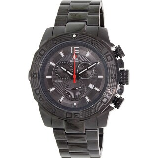 Swiss Precimax Men's 'Legion Pro' Black Dial Swiss Chronograph Stainless-Steel Watch