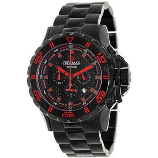 Precimax Men's 'Carbon Pro' Black/ Red Chronograph Watch