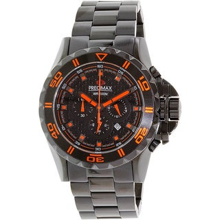 Precimax Men's 'Carbon Pro' Black/ Orange Watch