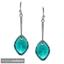 La Preciosa Sterling Silver Colored Cubic Zirconia and Crystal Earrings
