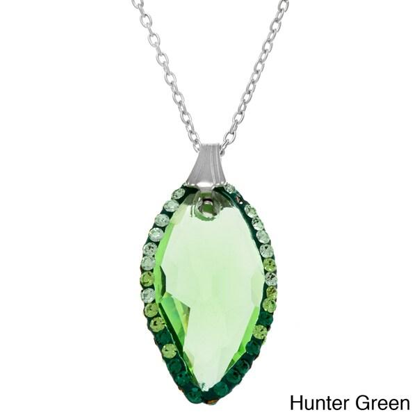 La Preciosa Sterling Silver Cubic Zirconia and Colored Crystal Necklace