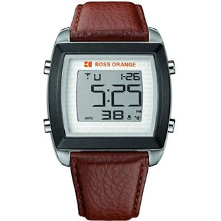 Boss Orange Men's Chronograph Digital Leather Watch