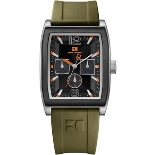 BOSS ORANGE Men's Green Rubber Quartz Watch