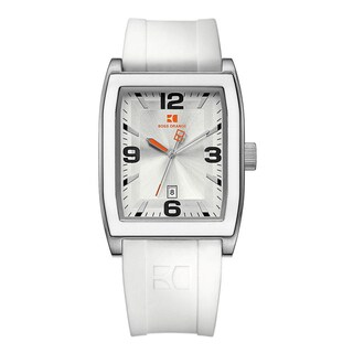 BOSS ORANGE Men's White Rubber Quartz Watch