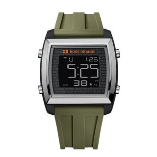 Boss Orange Men's Green Digital Chronograph Watch