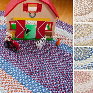 Penelope Braided Reversible Rug USA MADE - 5' x 7' (3 options available)