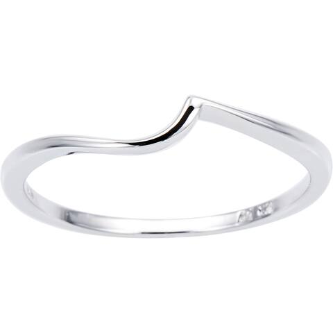 Miadora 10k White Gold Contour Wedding Band