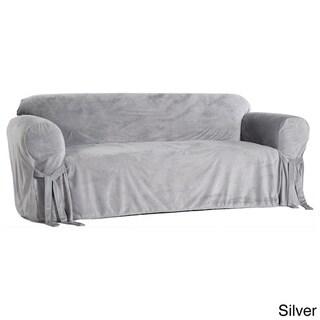 Microfiber Velvet Loveseat Slipcover