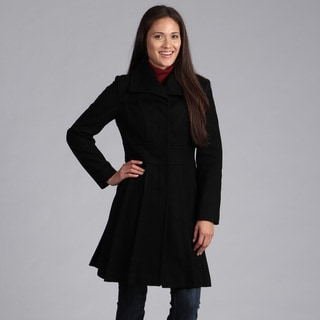 Velvet Heart Women's Pleated Wool Coat