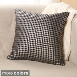 Aurora Home Metallic Houndstooth Small 18-inch Decorative Pillows (Set of 2)