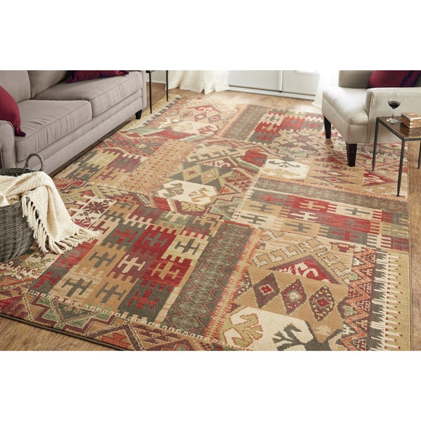 Mohawk Home Madison Louis and Clark Bark Brown Rug (8' x 11') - 8' x 11'