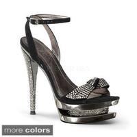 Pleaser Day & Night Women's 'FASCINATE-633' Dual Platform Ankle Strap Heels