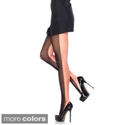 Leg Avenue Women's 2-tone Duel Net Pantyhose (One Size)