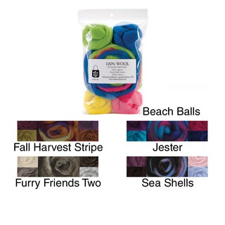 Wool Roving 12in .25 Ounce 8/Pkg (Option: Furry Friends Two)