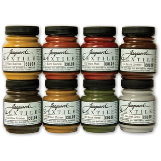 Jacquard Textile Color Paint Set-Earth Tones