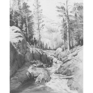 "Sketching Made Easy Kit 9""X12""-Shadow Lake"