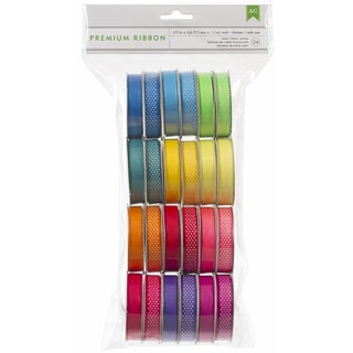 Value Pack Premium Ribbon 24 Spools-Neon