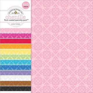 """Specialty Cardstock Value Pack 12""""X12""""-Flocked Chenille"""