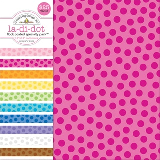 "Specialty Cardstock Value Pack 12""X12""-Flocked La Di Dot"