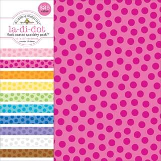 "Specialty Cardstock Value Pack 12""X12""-Flocked La Di Dot"
