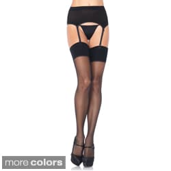 Leg Avenue Women's Spandex Garter Belt and Stocking Set