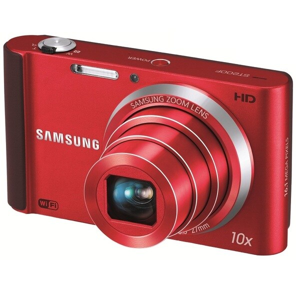Samsung SMART Long Zoom Wi-Fi 16MP Red Digital Camera