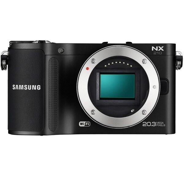 Samsung NX210 20.3MP Mirrorless Black Body Wi-Fi Smart Digital Camera