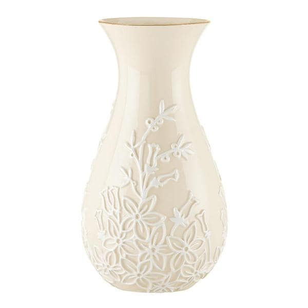 Shop Lenox Stephanotis 10 Inch Vase Free Shipping On Orders Over