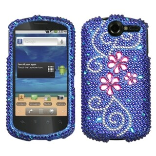 INSTEN Juicy Flower Diamante Phone Case Cover for Huawei U8800 Impulse 4G
