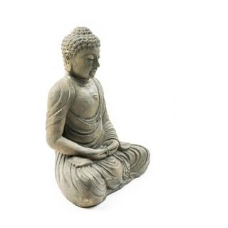 Handmade Volcanic Ash Meditating Buddha (Indonesia)