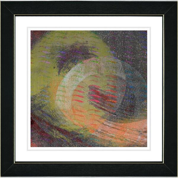 Studio Works Modern 'Rising Star - Orange' Framed Art Print