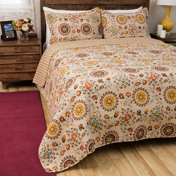 Greenland Home Fashions Andorra 3-piece Quilt Set