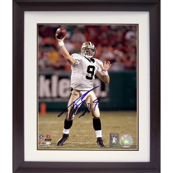 Drew Brees 11x14 Autographed Deluxe Frame